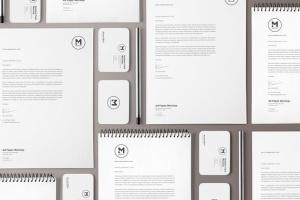 4组企业办公文具等距场景品牌样机套装 4 Stunning Stationery Mockups Set插图5
