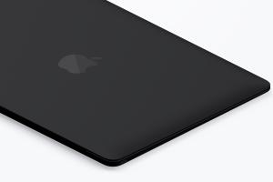 陶瓷材质MacBook笔记本电脑等距右视图样机03 Clay MacBook Mockup, Isometric Right View 03插图2