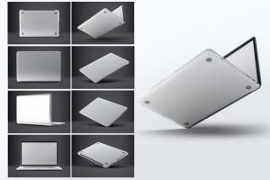 笔记本外观贴纸艺术样机模板 Laptop Body Mock-Up插图3