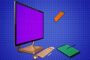 跨平台设计项目展示样机合集 Responsive Screens Mockup插图13