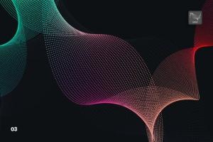 抽象虚线波浪漩涡图案Photoshop笔刷 Dotted Wavy Swirls Photoshop Brushes插图4