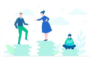 团队合作主题扁平设计风格矢量插画 Teamwork – flat design style colorful illustration插图2