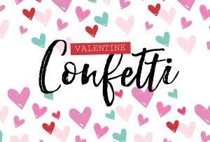 情人节糖果图案PS笔刷 Valentine Confetti Kit插图1