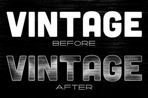 复古怀旧风格文本图层样式PS笔刷 Vintage Brush Kit插图(4)