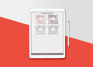 粗衬线字体Procreate&PS笔刷 Slab-Serif Lettering Worksheet插图4