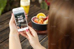 手持iPhone手机样机模板 iPhone Mockups插图4