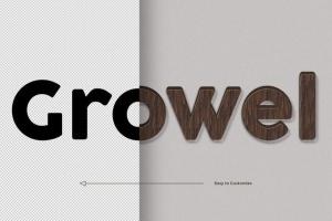 8款超逼真木纹效果PS字体样式 8 Wood Text Effects插图2
