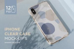 iPhone手机透明保护壳外观设计样机模板 iPhone Clear Case Mock-Up's插图1