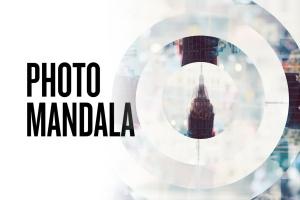 曼陀罗万花筒照片特效PSD分层模板 Photo Mandala插图1