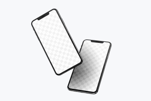 iPhone XS Max智能手机屏幕界面设计演示样机07 iPhone XS Max Mockup 07插图1