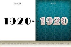 30年代复古装饰艺术PS图层样式 Art Deco Styles插图4