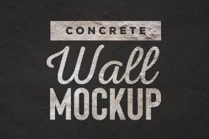 混凝土墙刷墙效果图样机模板 Concrete Wall Mockup插图2
