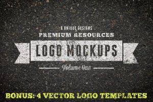 复古风格Logo样机模板v1 Vintage Logo Mockups Volume 1插图1