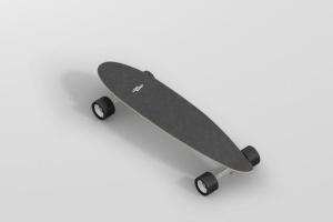 长滑板手绘图案设计样机模板 Skateboard Longboard Mockup插图11