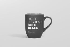 圆形光泽马克杯外观设计样机 Mug Mockup – Rounded插图5