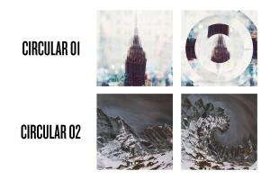 曼陀罗万花筒照片特效PSD分层模板 Photo Mandala插图2