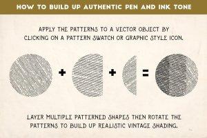 复古雕刻线条图案纹理AI图层样式 Vintage Engraved Patterns插图5
