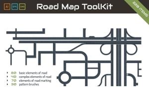 地图绘制设计AI工具包 Road Map ToolKit插图1