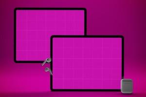 音乐APP界面设计效果图iPad Pro平板电脑样机模板 iPad Pro Music App插图11