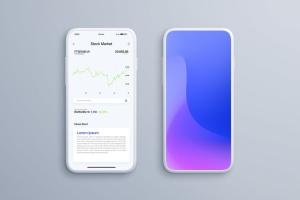 全屏智能手机屏幕预览样机模板 Smartphone Mockups插图8
