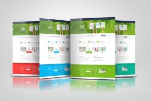 网站/网页设计效果图样机模板 Web Pages Presentation Mock Up插图2