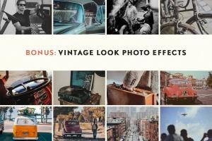 24种复古做旧风格效果PS图层样式 Hometown Texture Press Effects插图6