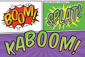 漫画书标题PS字体样式 Comic Book Text Styles插图2