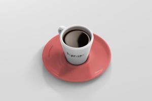 逼真咖啡杯马克杯样机模板 Espresso Cup Mockup – Cone Shape插图9