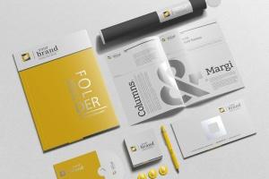 企业品牌VI办公用品样机设计模板V3 Branding-Stationery Mockups V3插图1