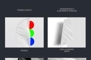 3D羽毛旗帜展示样机模板 3D Flags Feather / Bow / Sail Flag Mockup插图2