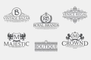 金属感纹章徽章Logo模板 Vol.2 Heraldic Crest Logos Vol.2插图5
