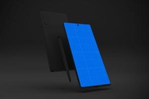 Note 10大屏手机屏幕预览样机模板 Dark Note 10 Mockup插图10