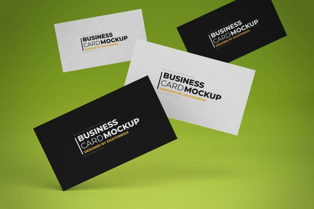 经典实用企业商务个人名片样机 Business Card Mock-Up Template插图