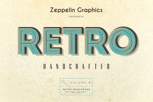 复古怀旧风格文本图层纹理v6 Vintage Text Effects Vol.6插图10