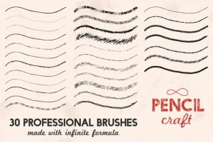 铅笔数码绘画AI画笔笔刷 Pencilcraft Brushes for Adobe Illustrator插图6