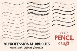 铅笔数码绘画AI画笔笔刷 Pencilcraft Brushes for Adobe Illustrator插图(6)