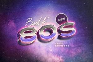 复刻80s年代文本图层样式 Back to the 80s Retro Text Effects插图1