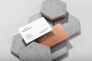 六边形图形设计品牌VI视觉设计效果图样机套件v1 Hexamed Branding Mockup插图4