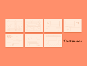 一流设计素材网下午茶:自由职业者插图集[AI]插图3