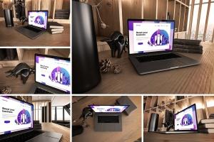 真实场景Macbook笔记本网页UI设计展示样机v1 MacBook Pro V.1插图1