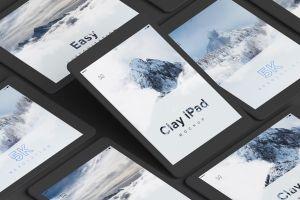5K高清分辨率iPad平板电脑多屏幕预览效果样机05 Clay iPad 9.7 Mockup 05插图2