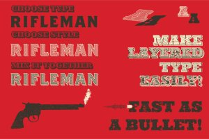 复古西部牛仔电影风格AI图层样式 Western Typography Saloon插图4