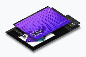 桌面应用程序APP界面设计效果图样机02 Desktop App Screen Mockup 02插图1