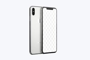 iPhone XS Max智能手机双立面视角样机模板 iPhone XS Max Mockup插图2