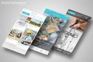 手机APP应用界面设计展示样机模板 Mobile Application Showcase Mockup插图6
