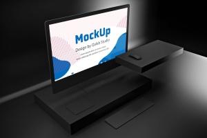 暗黑背景iMac Pro苹果一体机电脑样机模板 Dark iMac Pro插图6