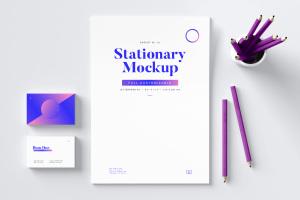 高逼格品牌VI设计预览图办公用品样机02 Stationery Mockup 02插图1