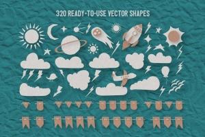 可爱剪纸艺术插画AI设计素材 Paper Kingdom Illustrator Graphic Styles插图10