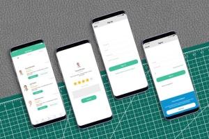 三星智能手机S9应用程序演示设备样机 S9 Mockup插图4