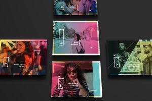 设计媒体创意设计效果图预览等距网格样机模板02 Landscape Perspective Mockup 02插图3